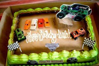 Hector's Custom Cakes: Grave Digger Cake / Monster Truck Cake