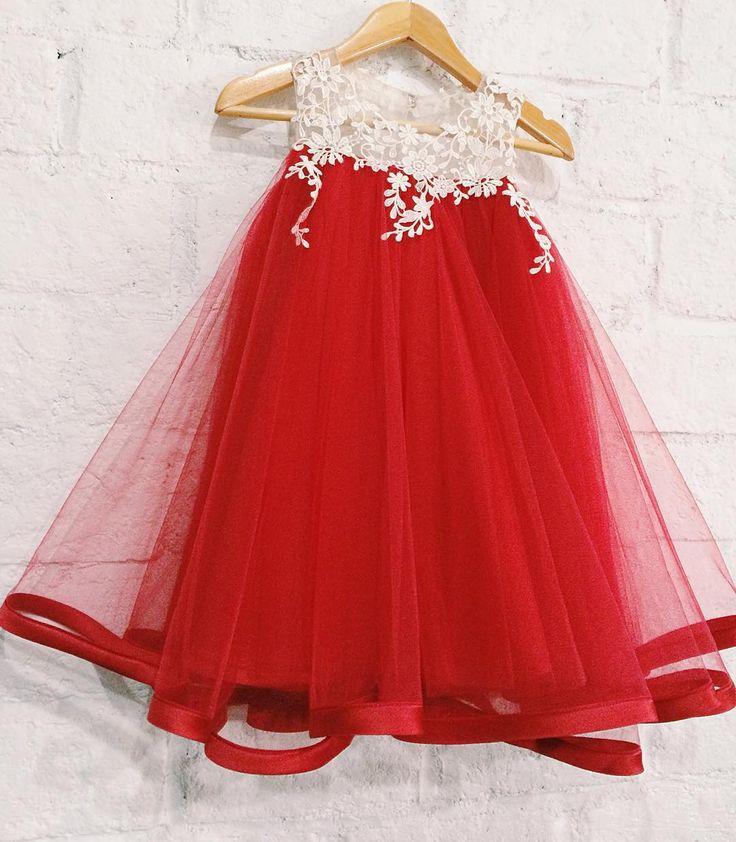 Keira dress ready stock -red - sz 2(bust58)  #honeybeekids #honeybee_kids