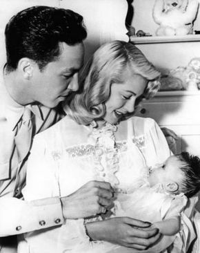 My Love Of Old Hollywood: Lana Turner with her baby daughter Cheryl and husband Steven Crane.