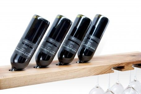 Simple wooden wine rack. Made of one piece of ash wood. It contains four bottles and six glasses. for polish orders: www.tulas.pl for international orders: https://www.etsy.com/listing/244065592/wooden-wine-rack-model-b-walnut?ref=listing-shop-header-2