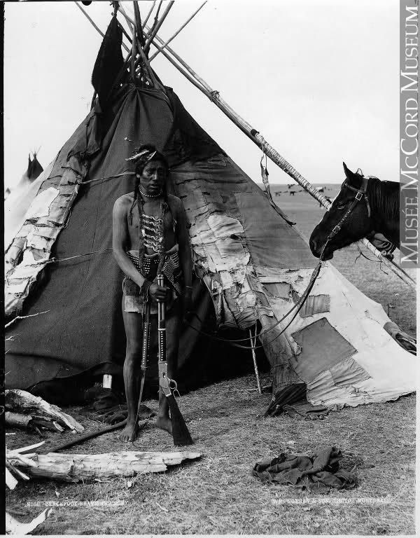 Blackfoot man near Calgary, ca.1889 (William Notman) http://amertribes.proboards.com/thread/324