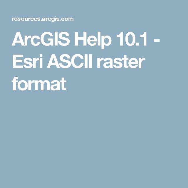 ArcGIS Help 10.1 - Esri ASCII raster format