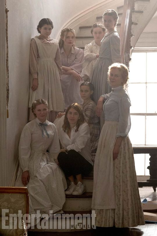 """The Beguiled"" 2017 starring Elle Fanning, Nicole Kidman, Kirsten Dunst and Colin Farrell the remake of the 1971 film and based on the novel A Painted Devil by Thomas Cullinan"
