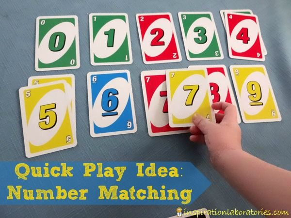 Number Matching Game. Simple way to teach kids number recognition.