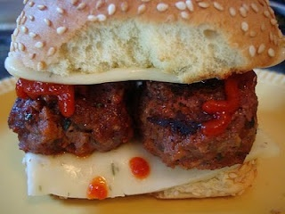 Grilled Spicy Meatball sliders | Grub | Pinterest
