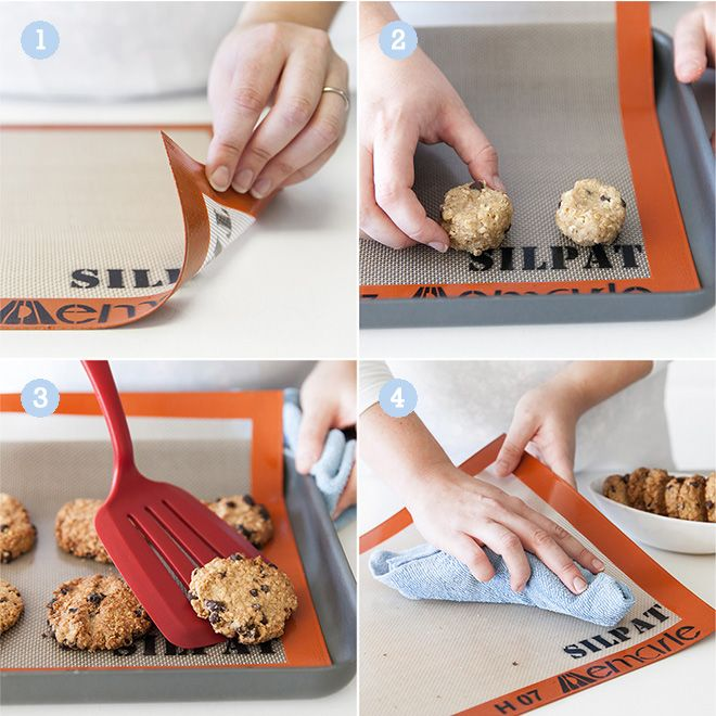 No one like sticking cookies. Here's how the Silpat Baking Mat works.