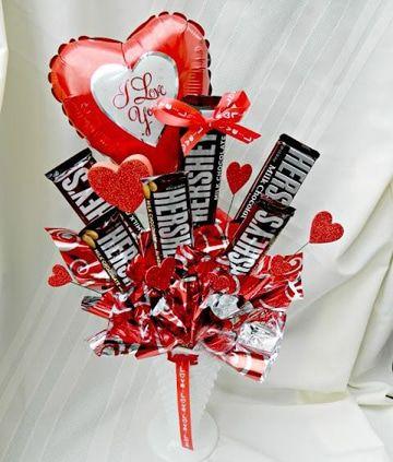 arreglos para el 14 de febrero con dulces corazon