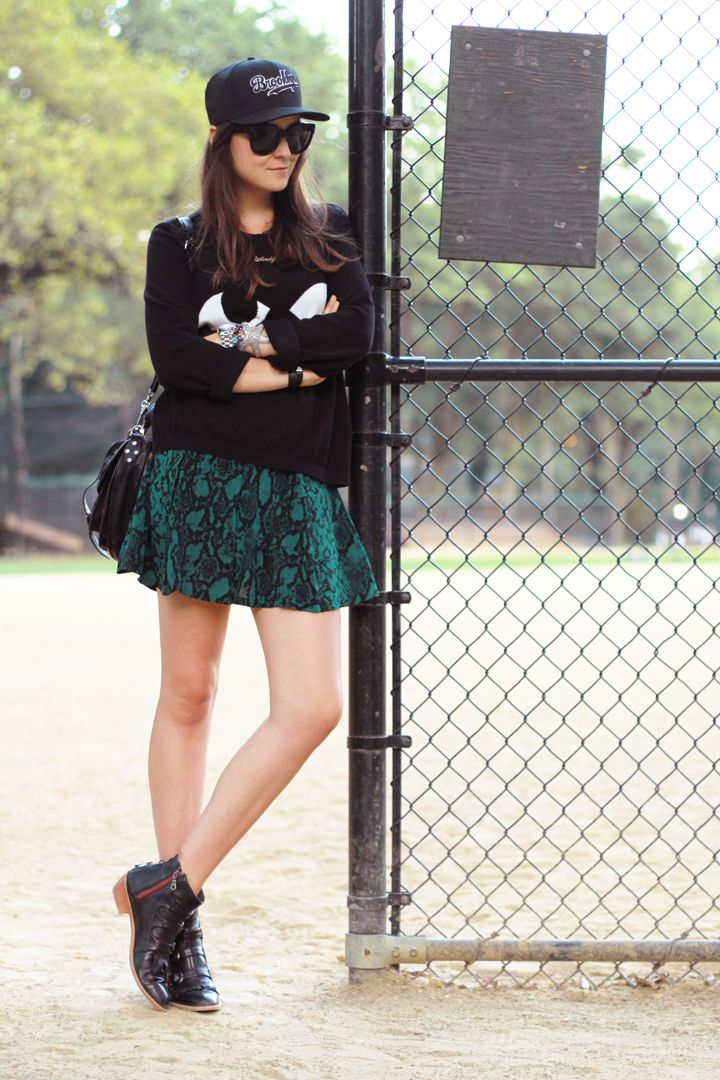 "Style Scrapbook: ""BASEBALL FIELD"":  Everything but the hat.  I REALLY love those boots"