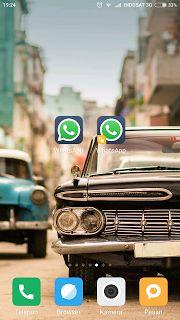 Cara Mudah Memasang atau Menginstal Dua aplikasi Whatsapp pada Satu hp Xiaomi
