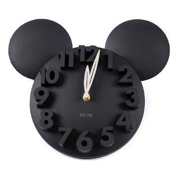 Amazon.com: LOCOMO Modern Design Mickey Mouse Big Digit 3D Wall Clock Home Decor Decoration: Home & Kitchen