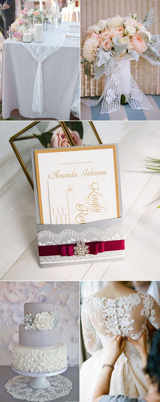 10 best Lace Wedding Ideas images on Pinterest   Lace weddings ...