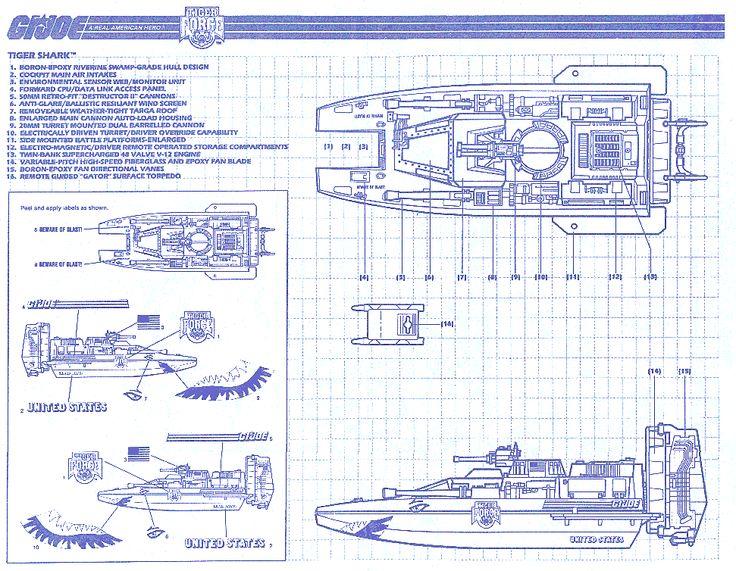 119 best gi joe blueprints images on pinterest army gi joe and comic tiger shark blueprint malvernweather Choice Image