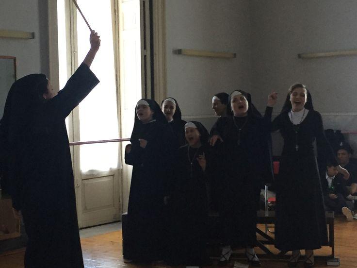 Ieri ultime prove a Catania per lo spettacolo di stasera. #imperdibile #sorelle #sisteract #musicalweekend