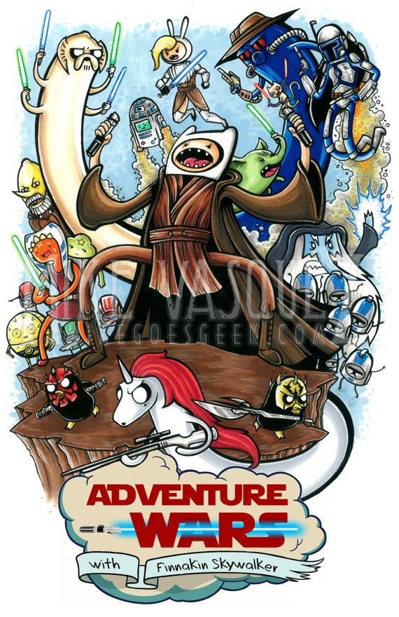 Adventure Wars Prequel Trilogy (Star Wars & Adventure Time Crossover) 11x17 Print