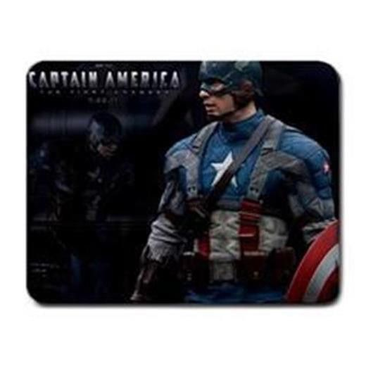 ar09-20 Captain America PC Cloth Cover Square Mouse Pad