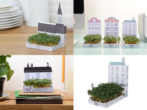 Another Studio, makers of the pop-up postcard gardens comes MatchCarden, little teeny tiny gardens that sprout from a container the size of a traditional matchbox.