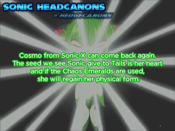 Best Sonic Headcanons Images On   Cosmos Hedgehog