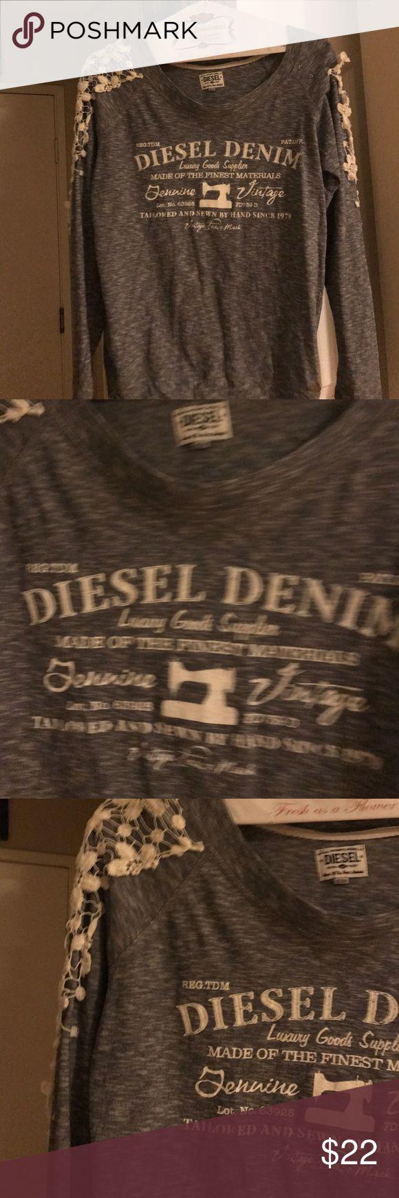 Diesel denim shirt Casual everyday wear - cute fit and so stylish Diesel Tops Tees - Long Sleeve