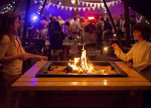 Becs & Wes wedding in unique teepee tent