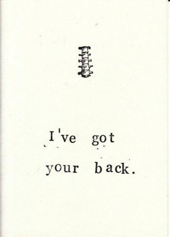 Funny Skeleton Anatomy Medical Humor Friendship Thinking of You Card - Back
