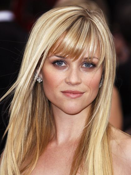 cute: Reese Witherspoon, Ree Witherspoon, Haircolor, Long Hair, Blond, Hair Bangs, Hair Style, Faces Shape, Hair Color