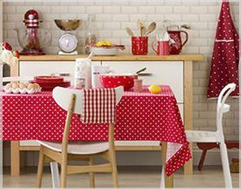 Decoração // Cozinha // Poás // Branca e Vermelha // Vintage // Bolinhas // Linda <3