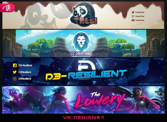 Design A Youtube Banner Gaming Banner Twitch Banner Header By Vkdesigns1 In 2021 Gaming Banner Banner Design Youtube Banners