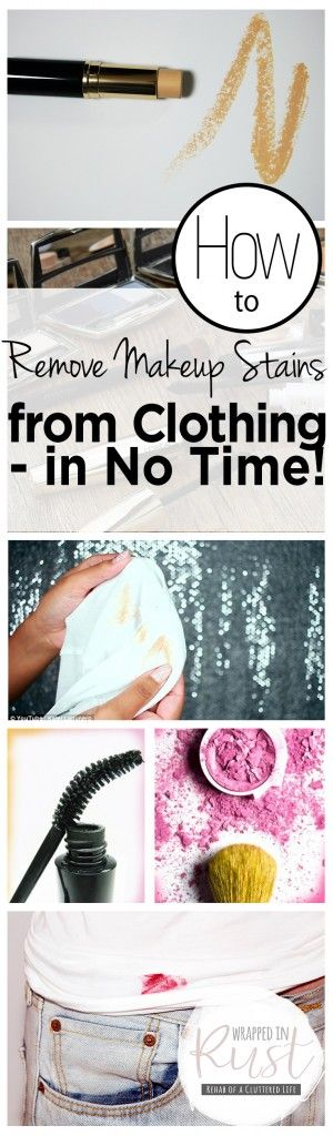 How to Remove Makeup Stains from Clothing — in No Time!