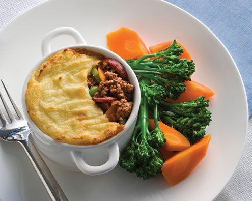 Cafe Style Cottage Pie recipe from Food in a Minute