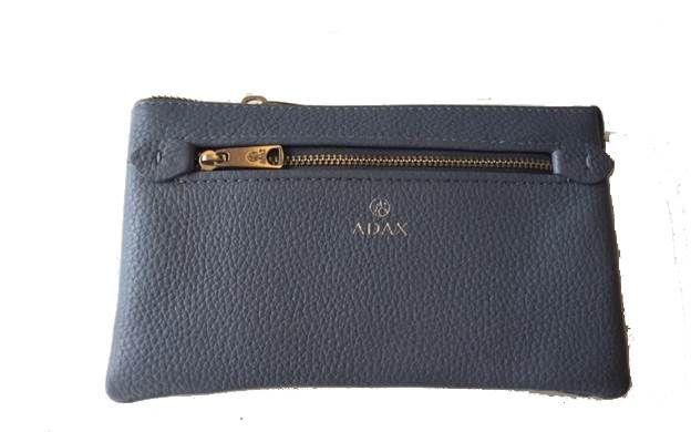 ADAX Flora clutch i sky blue cormorano skind | Køb online her!