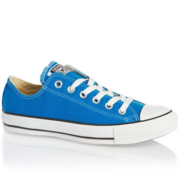 Converse Chuck Taylor All Star Ox Shoes Electric Blue Lemonade ($21) ❤ liked on Polyvore featuring shoes, sneakers, converse sneakers, converse trainers, royal blue sneakers, converse shoes and converse footwear