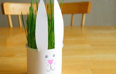 a homemade Easter bunny Chia pet!