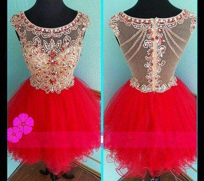Short custom homecoming dress,rhinestone homecoming dress,sparkly homecoming Dress,tulle Homecoming Dress, sweetheart Homecoming Dress,PD2100136