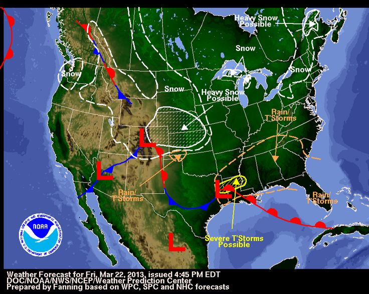 forecast or weather map for new orleans louisiana | ... full size Forecast map for the United States National Weather Service