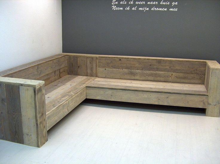 NIEUW Hoekbank steigerhout diversen lengtes (175201313) | Lounge-banken & stoelen | JORG`S Houten Meubelen