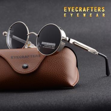 891e07365fa Silver Black Metal Polarized Sunglasses Gothic Steampunk Sunglasses Mens  Womens Fashion Retro Vintage Shield Eyewear Shades
