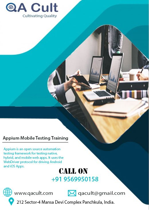 Appium Mobile Testing Training www qacult com #it
