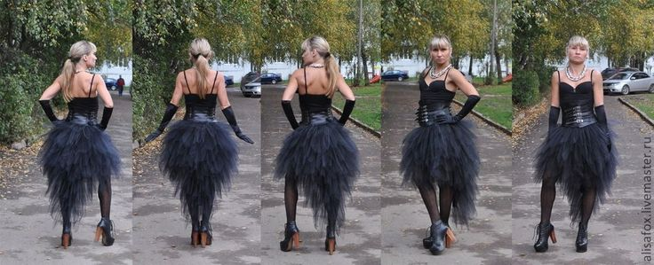 "Купить ""Хэллоуин (Halloween)"" юбка из фатина со шлейфом - черный, Хэллоуин, хэлоуин, хелоуин, хеллоуин"