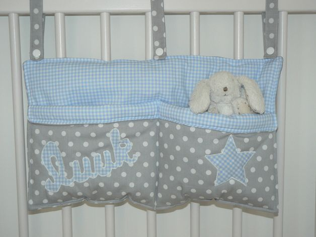 Bett - Utensilo/ Bett - Tasche mit Namen