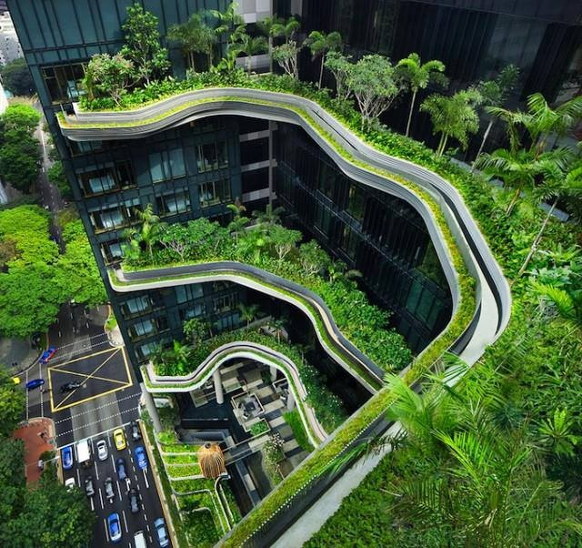 Cool Thing  Green architecture in Singapore. It's beautiful ! (640×602)