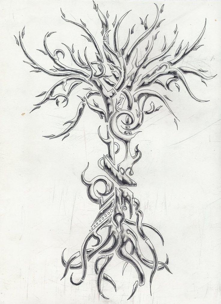 Chrome Tree Tattoo by ~MassMurdurah on deviantART