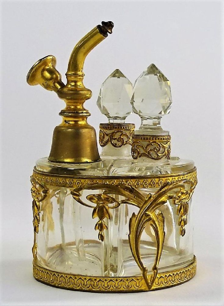 Lot: ANTIQUE FRENCH THREE BOTTLE PERFUME CLUSTER, Lot Number: 0006, Starting Bid: $75, Auctioneer: Auction Gallery of Boca Raton, LLC, Auction: PROMINENT ESTATE DISCOVERIES & TREASURES, Date: January 14th, 2018 EST