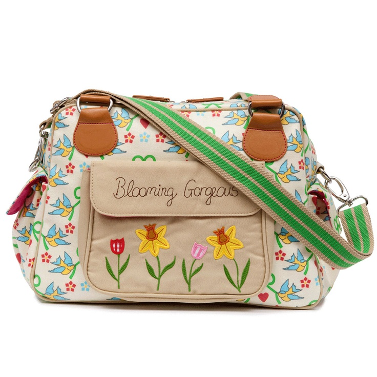 Gotta have a Blooming Gorgeous diaper bag to carry all the necessities in!  Pink Lining diaper bag