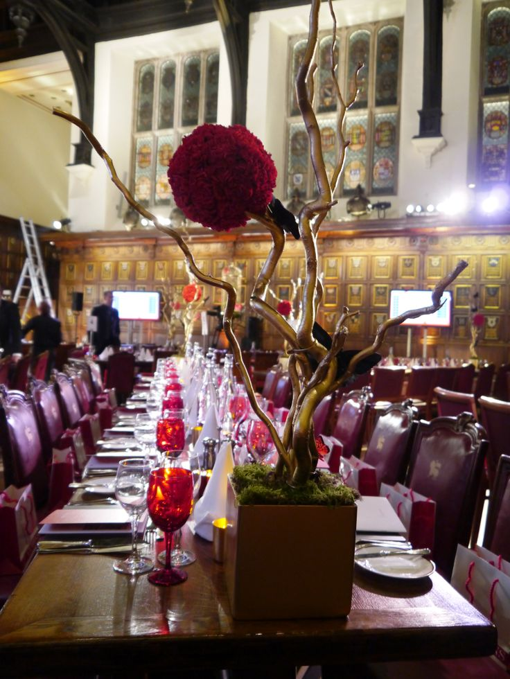 A close-up of the beautiful centrepieces