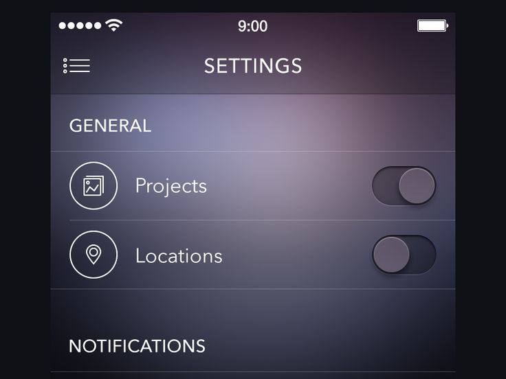 Settings Screen [ewebdesign.com] by Alexander Zaytsev