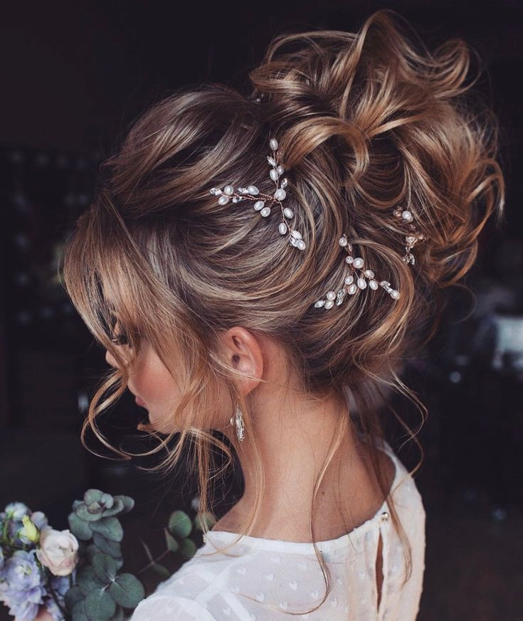 Bridal hair pins-Wedding hair pins-Pearl hair pins-Crystal hair pins- Hair pins bridal – pearl hair