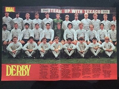 *1971* STUNNING A3 FULL SQUAD Football TEAM picture poster DERBY COUNTY