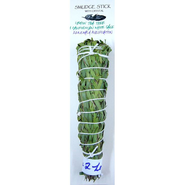 Our Lemon Scented Tea Tree & White Sage Smudge Stick Is Great For Renewals & Purification. It is proudly made in Australia from Australian plants and herbs. Only $21.00