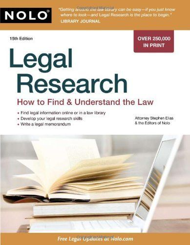 271 best work images on pinterest paralegal law students and at mcc library legal research how to find understand the law stephen elias and the editors of nolo fandeluxe Image collections