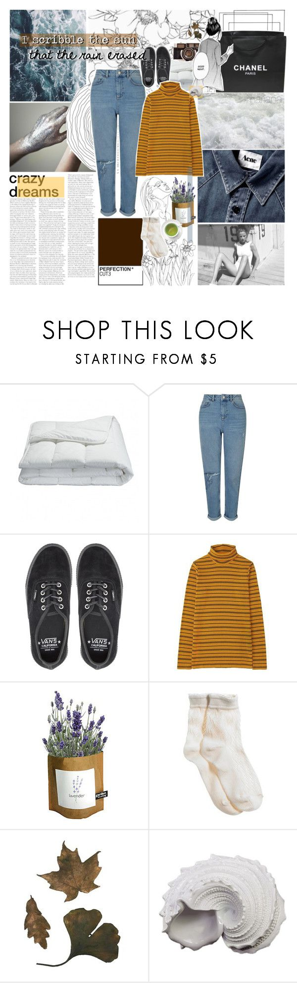 """""""//TMNBG ROUND ONE//"""" by marysilvs1 ❤ liked on Polyvore featuring Chanel, Frette, Miss Selfridge, Vans, Uniqlo, Potting Shed Creations, Aerie and Urban Trends Collection"""